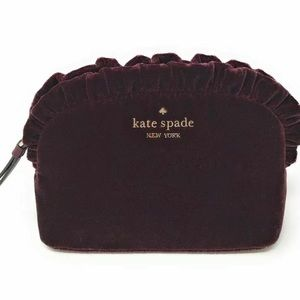 Kate Spade Briar Lane Quilted Velvet Cosmetic Bag